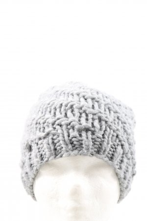 Opus Bobble Hat light grey cable stitch casual look