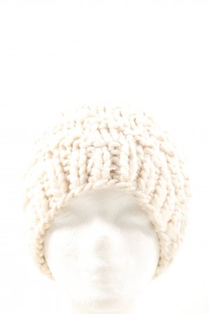 Opus Bobble Hat natural white cable stitch casual look