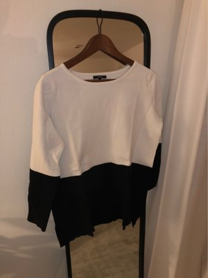 Opus Wool Sweater white-dark blue
