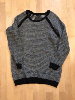 Opus Pullover Pulli 40 Grau schwarz Casual Business Winterpulli Wollpulli