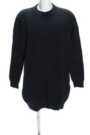 Opus Robe pull noir moucheté style décontracté