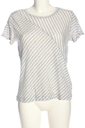 Opus Stripe Shirt white-light grey flecked casual look