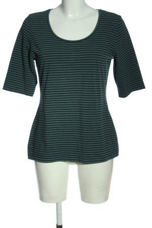 Opus T-shirt rayé kaki-bleu motif rayé style décontracté
