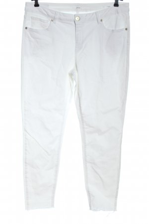 Opus Drainpipe Trousers white casual look