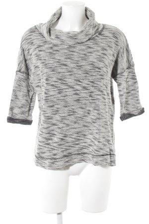 Opus Rollkragenpullover schwarz-weiß meliert Casual-Look