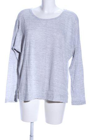 Opus Crewneck Sweater light grey flecked casual look