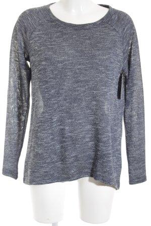 Opus Crewneck Sweater slate-gray-pale blue flecked casual look