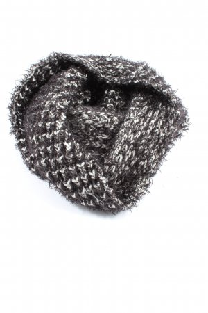 Opus Snood black-white cable stitch casual look