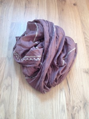 Opus Scarf grey brown-brown