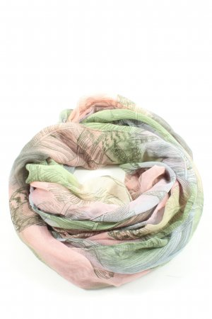 Opus Tube Scarf pink-green abstract pattern casual look