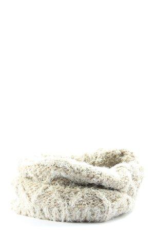 Opus Bufanda tubo blanco puro-blanco punto trenzado look casual