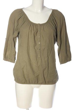 Opus Slip-over blouse khaki casual uitstraling