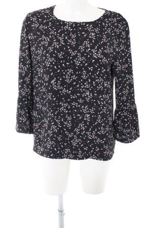 Opus Schlupf-Bluse schwarz-weiß Allover-Druck Elegant