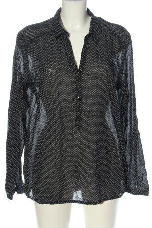 Opus Schlupf-Bluse schwarz Allover-Druck klassischer Stil
