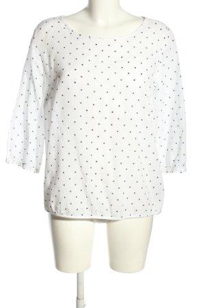 Opus Schlupf-Bluse weiß-schwarz Punktemuster Casual-Look