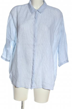 Opus Slip-over Blouse blue-white striped pattern business style