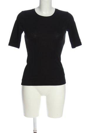 Opus Koszulka z dzianiny czarny W stylu casual