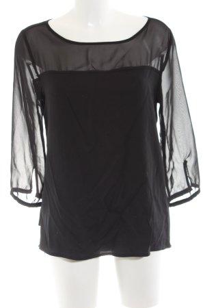 Opus Slip-over blouse zwart zakelijke stijl