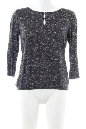 Opus Schlupf-Bluse schwarz-weiß Allover-Druck Casual-Look