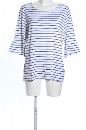 Opus Slip-over Blouse white-black striped pattern casual look