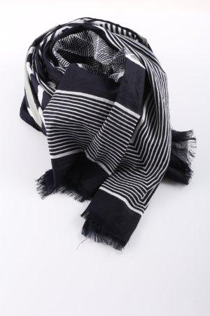 Opus Mantilla negro-blanco estampado a rayas look casual