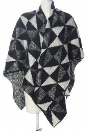 Opus Shoulder Scarf black-white graphic pattern casual look