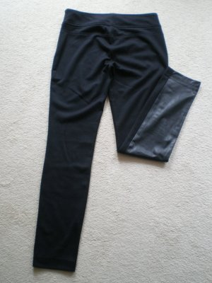 Opus Faux Leather Trousers black mixture fibre