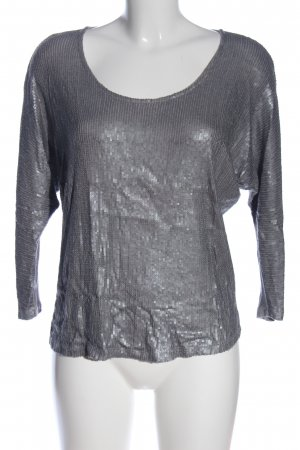 opus someday is today Glanzbluse hellgrau meliert Casual-Look
