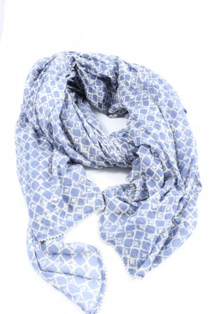Opus Sommerschal blau-weiß Allover-Druck Casual-Look