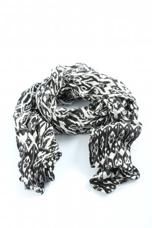 Opus Summer Scarf black-white abstract pattern casual look