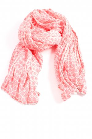 Opus Summer Scarf red-white abstract pattern casual look