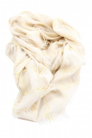 Opus Summer Scarf cream-primrose check pattern casual look