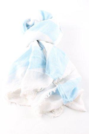 Opus Sommerschal weiß-blau Casual-Look