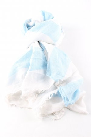 Opus Summer Scarf blue-natural white striped pattern casual look