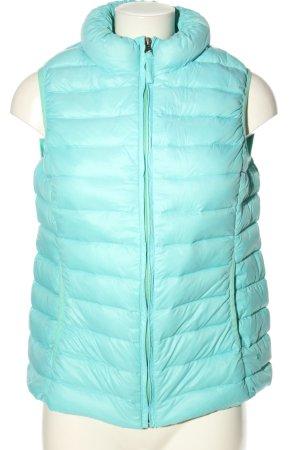 Opus Gilet matelassé turquoise motif de courtepointe style décontracté