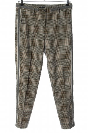 Opus Jersey Pants black-cream check pattern casual look