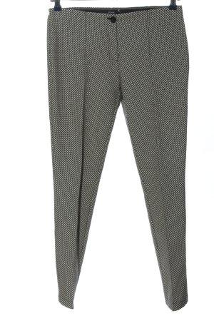Opus Stoffhose schwarz-weiß abstraktes Muster Casual-Look