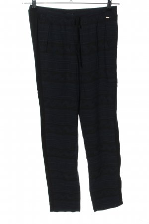 Opus Stoffhose schwarz grafisches Muster Casual-Look