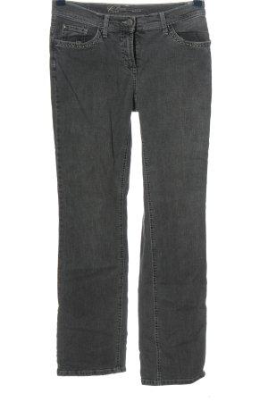 Opus Jeansy z prostymi nogawkami jasnoszary W stylu casual