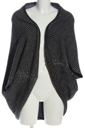 Opus Strick Cardigan schwarz-weiß Allover-Druck Casual-Look