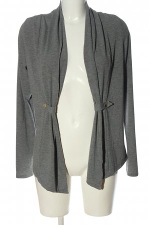 Opus Knitted Cardigan light grey flecked casual look