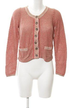 Opus Strick Cardigan beige-rot Casual-Look