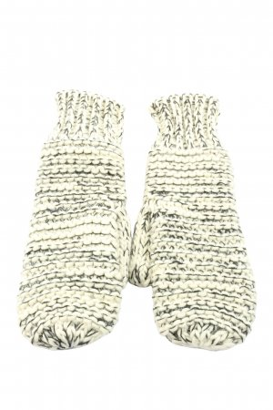 Opus Knitted Gloves white-black flecked casual look