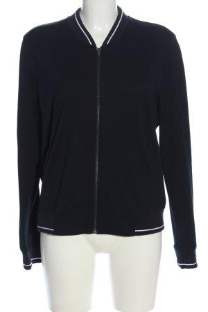 Opus Strickjacke schwarz-weiß Streifenmuster Casual-Look