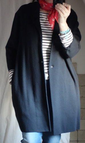 Opus Manteau en tricot bleu foncé-bleu coton
