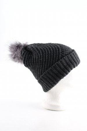 Opus Knitted Hat black cable stitch casual look