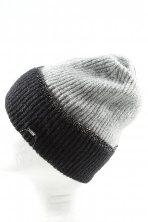 Opus Knitted Hat black-light grey casual look