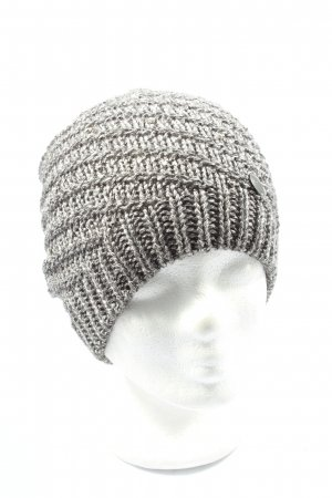 Opus Knitted Hat silver-colored cable stitch casual look