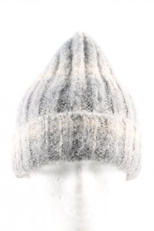 Opus Knitted Hat light grey-cream color gradient casual look