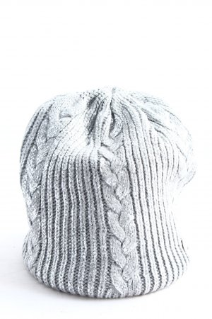 Opus Knitted Hat light grey cable stitch casual look